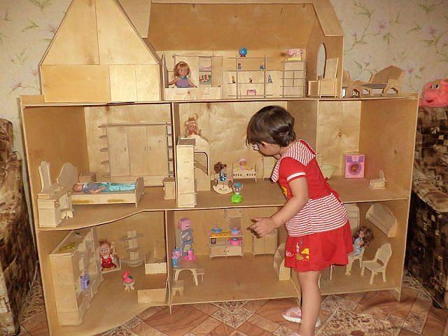 Дом кукол барби своими руками видео фото 838