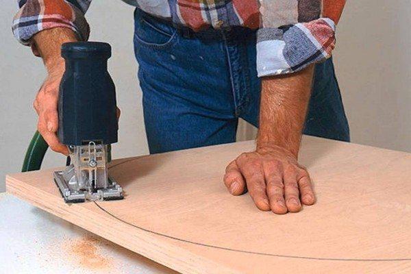 Как сделать овальный стол своими руками видео