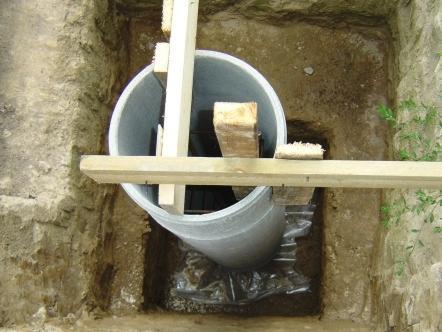 Асбестоцементная труба может использоваться как несъемная опалубка