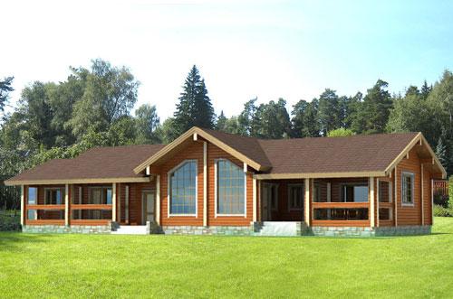 Большие дома выглядят роскошно и позволяют разместить гостей.