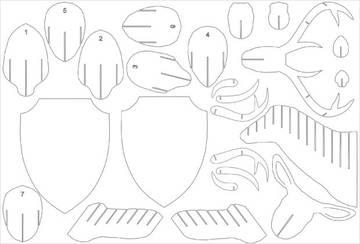 Олень из картона своими руками шаблоны