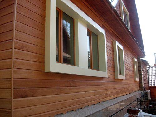Далеко не каждый потребитель сможет визуально отличить панели от деревянного бруса