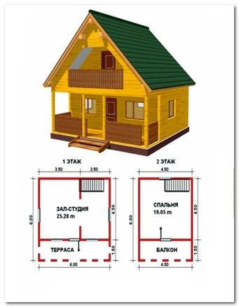 Даже такой маленький домик можно сделать удобным и комфортным.