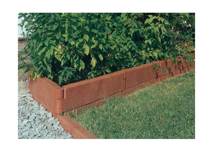 Декоративное ограждение из садовой доски в сборе