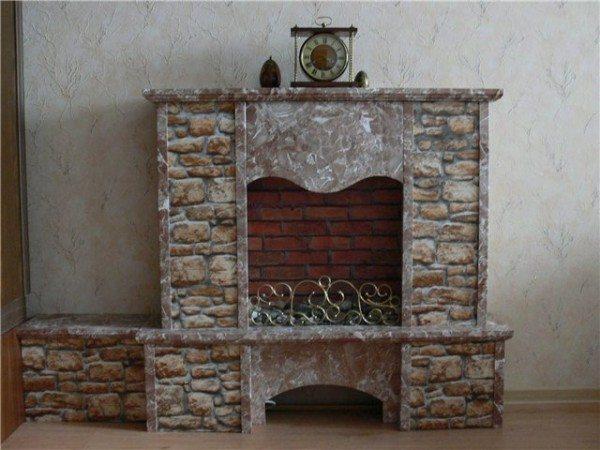 Декоративный фанерный камин