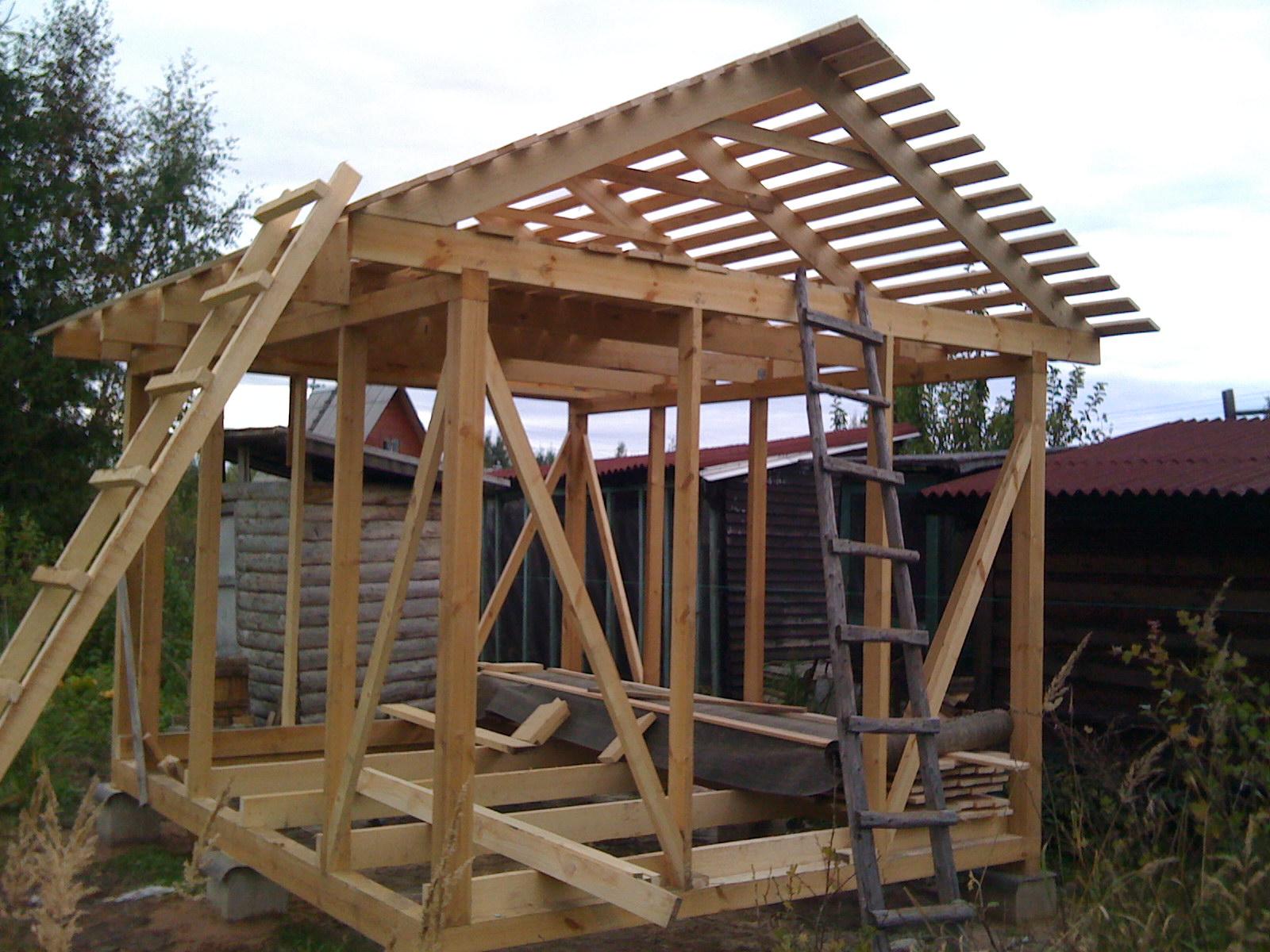 Как самому сделать крышу сарая