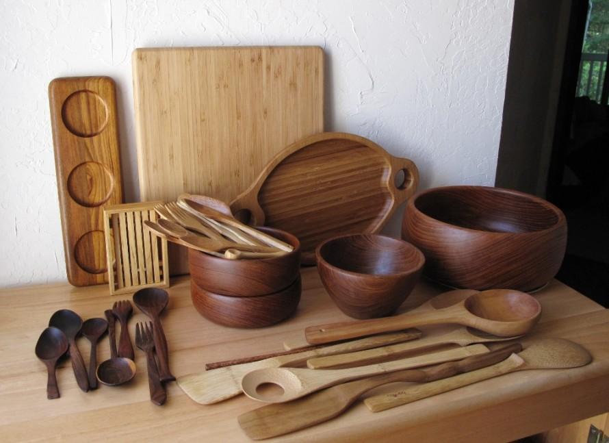 Кухонные принадлежности своими руками из дерева
