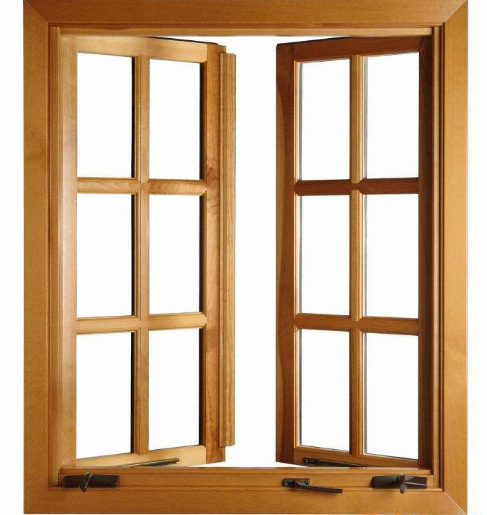 Деревянное двухстворчатое окно