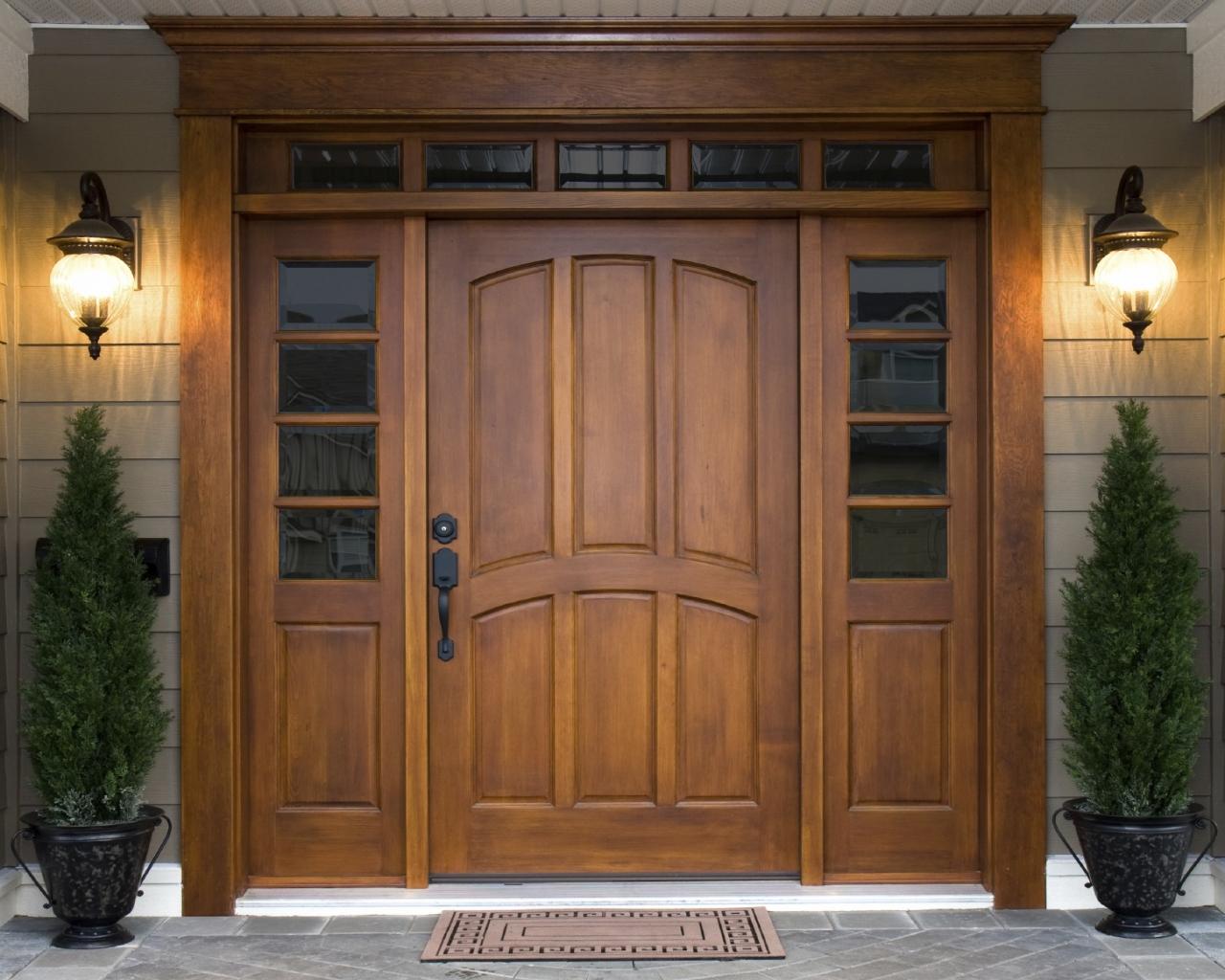 Деревянные двери для частного дома своими руками