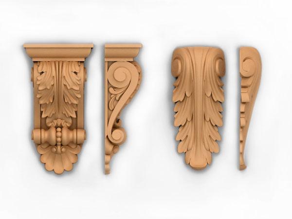 Деревянные элементы декора для мебели в ассортименте