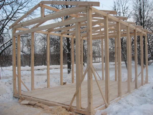 Строительство каркасного гаража своими руками видео