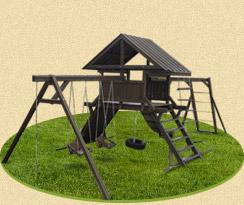Деревянный комплекс для детей «Крепость»
