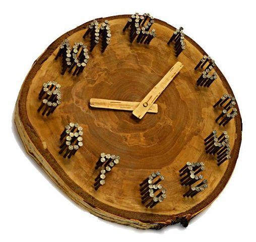 Деревянный циферблат настенных часов