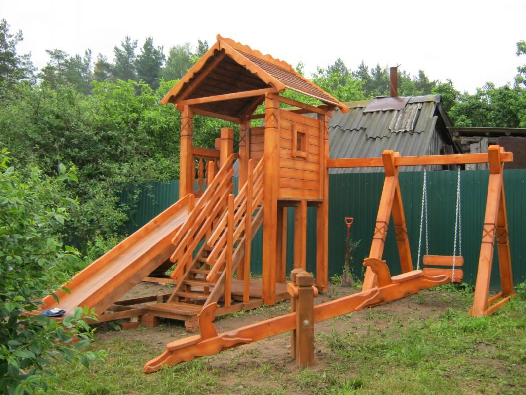 Деревянные комплексы для дачи своими руками