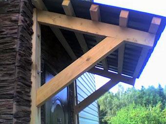Построить навес над крыльцом на даче своими руками