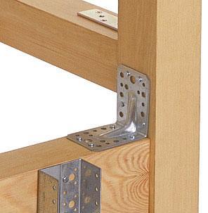 Для массивных конструкций лучше всего использовать крепежные уголки с ребрами жесткости