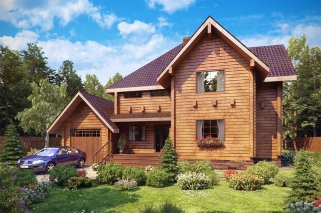 Дом из бруса размером 200 на 250