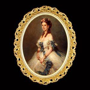 Эксклюзивный овальный багет с роскошным узором отлично подходит для портретов