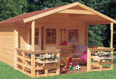 Элегантный садовый домик 3х6 из бруса