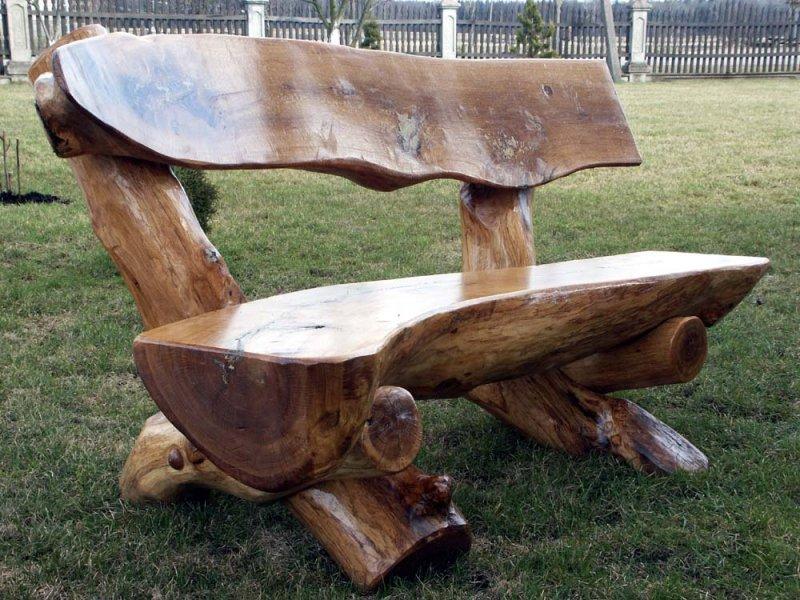 Садовая мебель из бревна своими руками фото