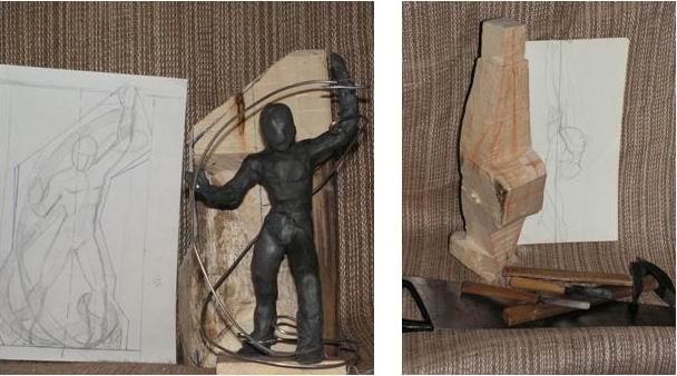 Эскиз, пластилиновая модель и подготовка формы