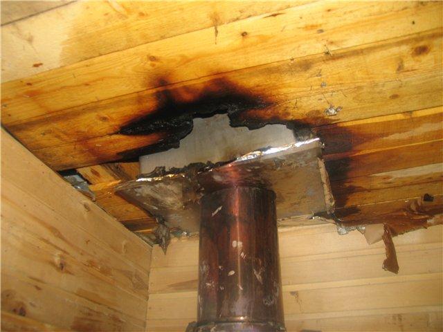 Если использовать состав с противопожарными свойствами, то таких повреждений можно было бы избежать
