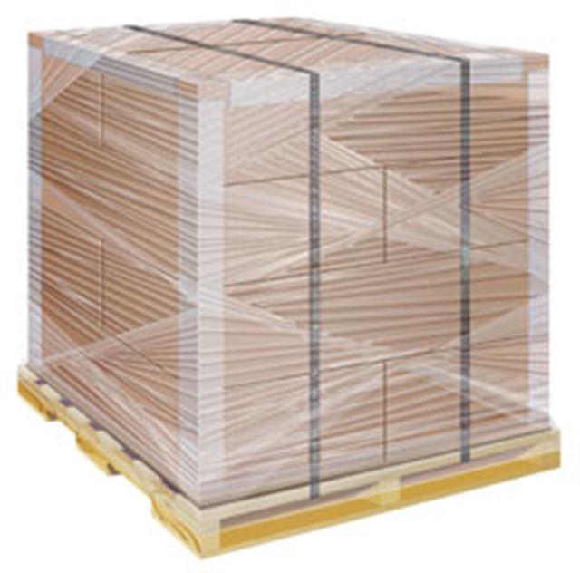 Если общий вес деревянной паллеты с грузом довольно велик, то может использоваться два варианта упаковки: крепежная лента и стрейч-пленка