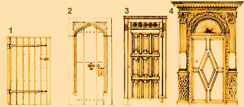 Эволюция деревянных дверей.
