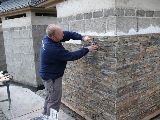 Фиброцементная имитация природного камня
