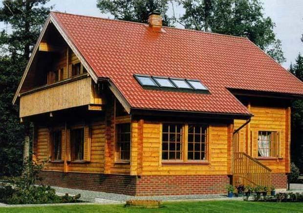 Фото деревянного двухэтажного дома