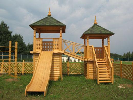 Фото деревянного городка для детей