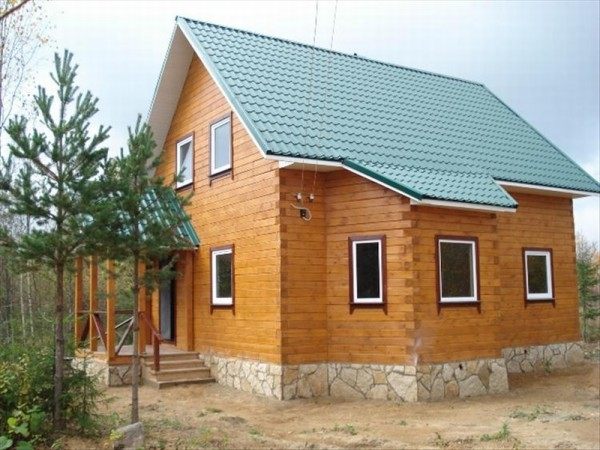 Фото дома из бруса.