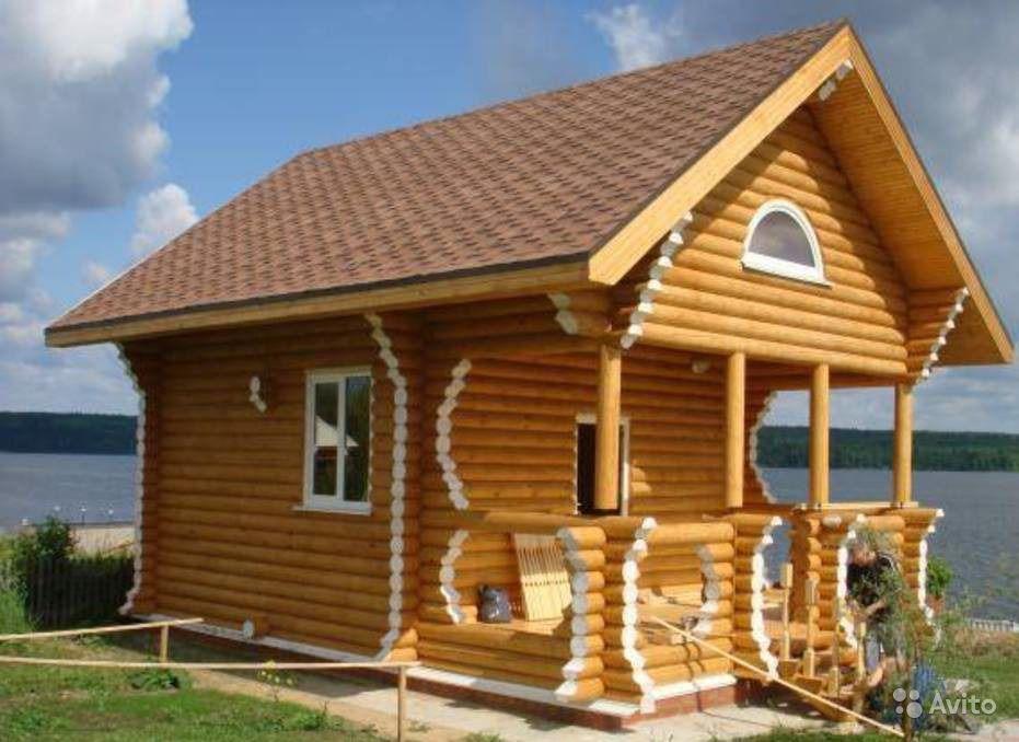 Фото изысканной деревянной бани