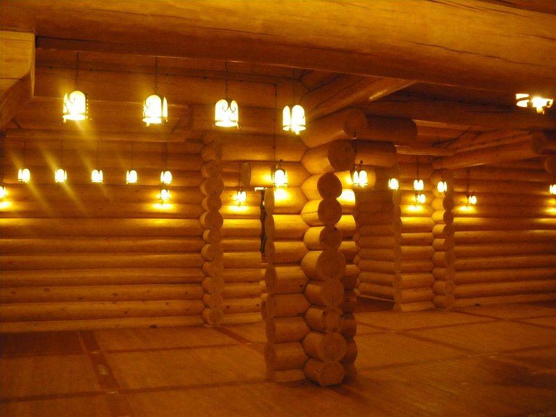 Verdrahtung in einem Holzhaus