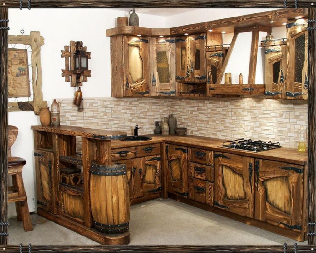 Деревянная кухня своими руками фото