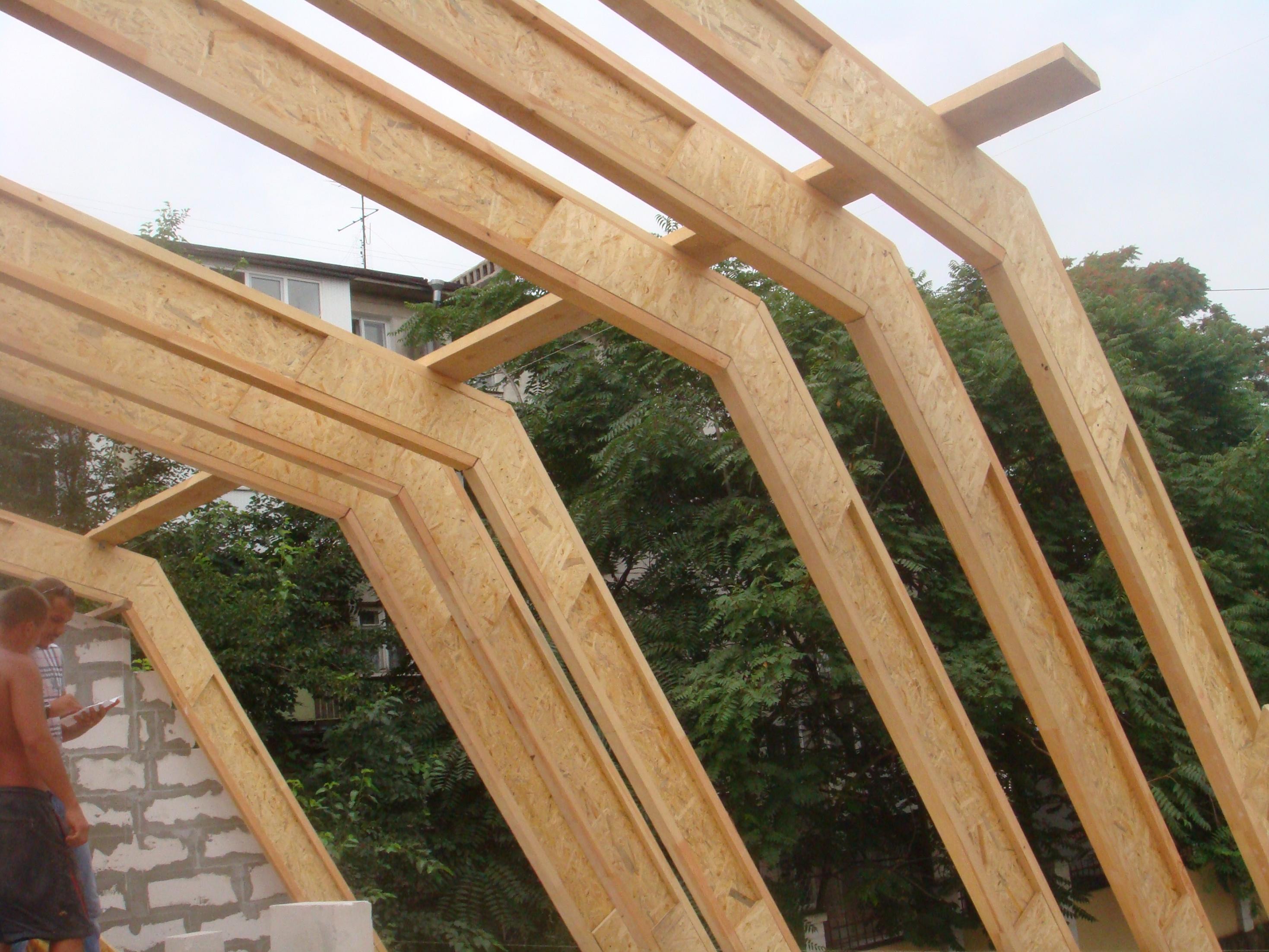 Двутавровые балки перекрытия деревянные своими руками