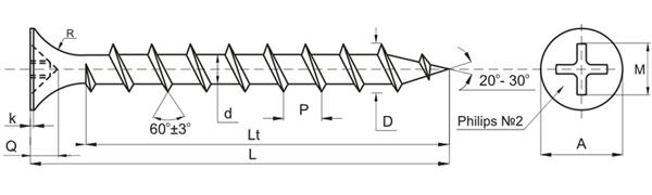 ГОСТ на саморезы по дереву 11450-80 позволяет производителям выпускать требуемые в строительной индустрии изделия