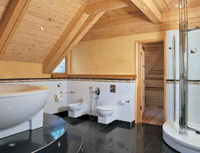 Ванная комната в деревянном доме своими руками
