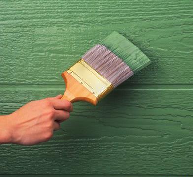 Используйте для покраски жесткую кисть.