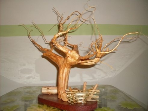 Поделки из корней деревьев