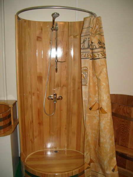 Душевая кабина для деревянного дома своими руками