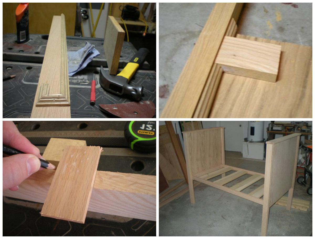 Как изготовить деревянные кроватки для новорожденныхв домашних условиях