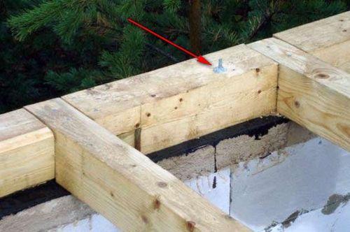 Как закрепить брус к фундаменту с помощью шпильки
