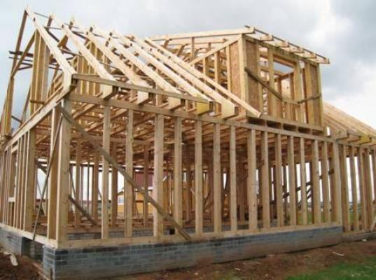 Каркас деревянного дома