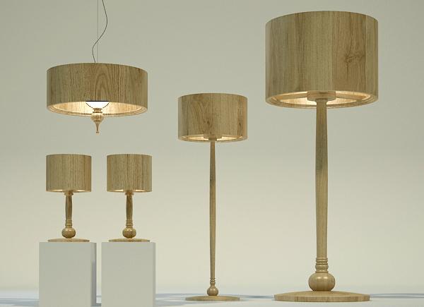Коллекция осветительного оборудования из дерева и шпона