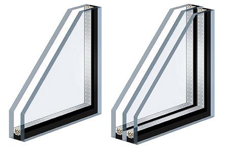 Конструкция современных окон позволяет устанавливать стеклопакеты