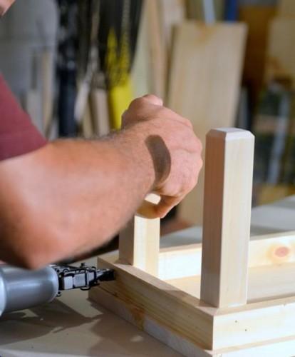 Крепление стационарных ножек.