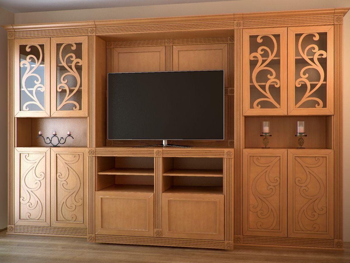 Мебель, изготовленная на заказ - гостиная из массива дерева