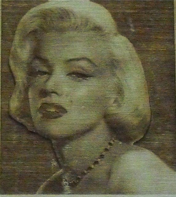 Мэрилин Монро – портрет лазером