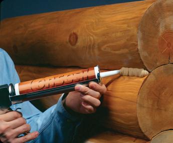 Межвенцовый герметик – идеальное решение как для бруса, так и для бревна